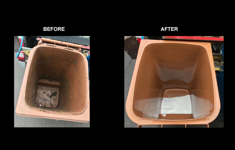 before and after bin cleaning 2