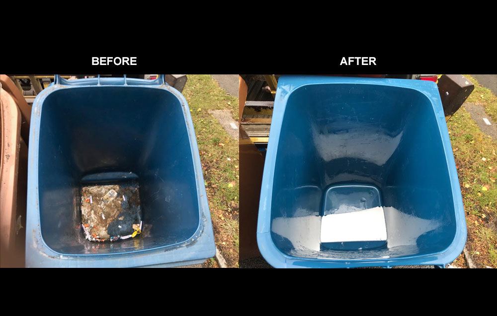 before and after bin cleaning