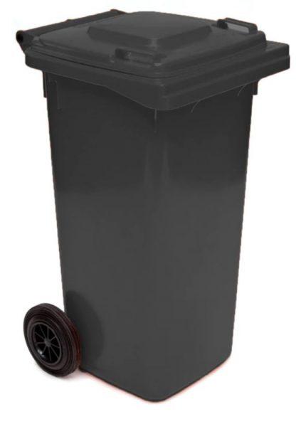 140 litre wheelie bin black